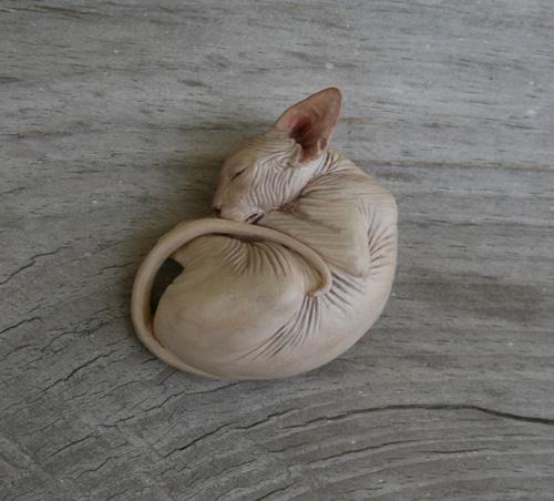 Sphynx Cats Resin Sculpture Figurines By Deborah McDermott